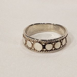 Sterling Silver Raised Circle Ring
